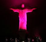 CRISTO4 - RJ - 28/10/2008 - CRISTO/ROSA - CIDADES OE JT - O monumento do Cristo Redentor recebe iluminação rosa. O evento faz parte da Camapnha Nacional de Prevenção do Câncer de Mama. Foto: MARCOS D'PAULA/AGENCIA ESTADO/AE